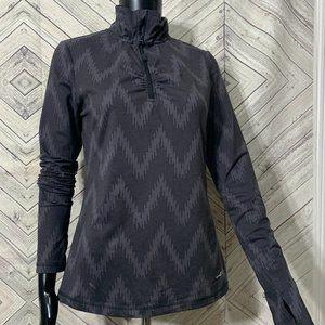 eddie  S gray chevron active half zip pullover